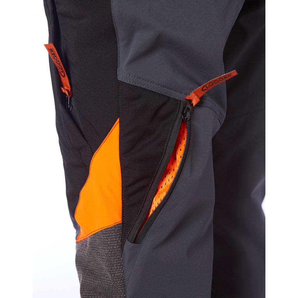 Clogger chainsaw pant vent zip